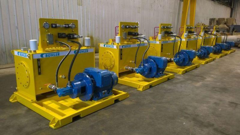 Centrales hidráulicas para la empresa BUHLER